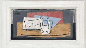 'Nature morte', una composición geométrica realizada por Picassoen 1921.