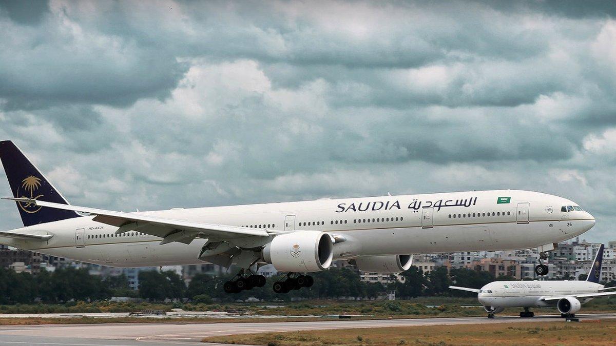 Aviones de Saudia Airlines.
