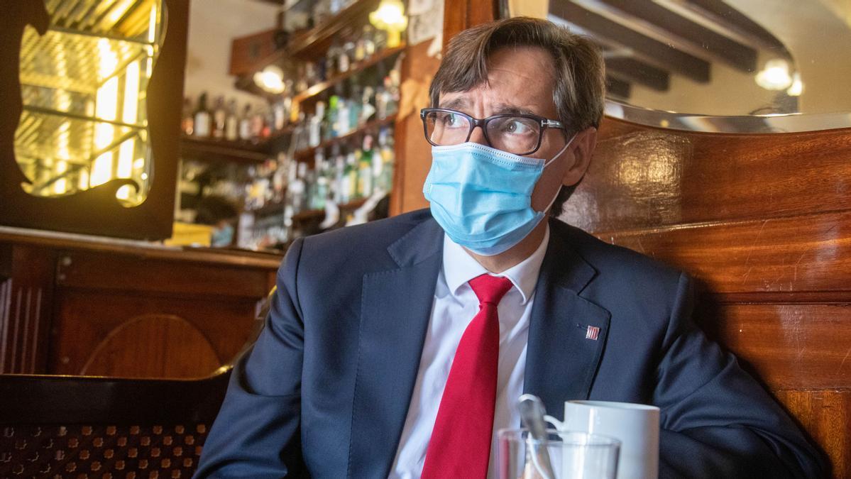 Salvador Illa, en Palma, entrevistado por Diario de Mallorca