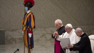 El papa Francisco da su audiencia generaleste miércoles en el Vatican