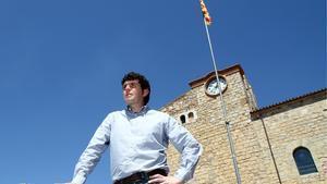 El alcalde de Bellcaire d'Empordà, David Font, en una imagen de mayo del 2012.