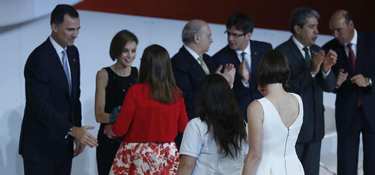 Los Reyes, en la entrega de los premios del Fórum Impulsa, el año pasado.