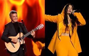 Alejandro Sanz y Rosalía, premiados en la pregala de los Grammy Latinos.