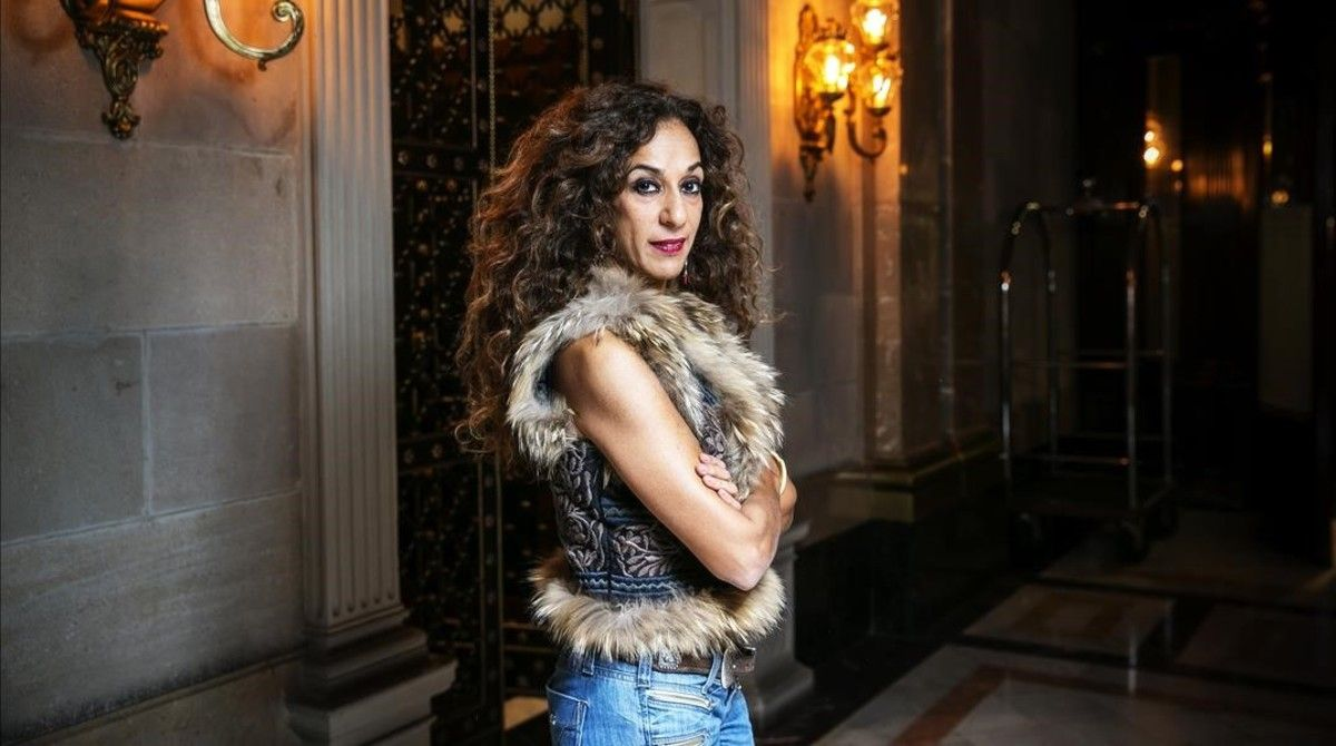 La cantante Rosario Flores, en Barcelona, presentando 'Gloria a ti'.