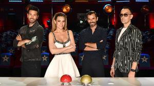 Dani Martínez, Edurne, Santi Millán y Risto Mejide en la mesa del jurado de 'Got Talent 6'.