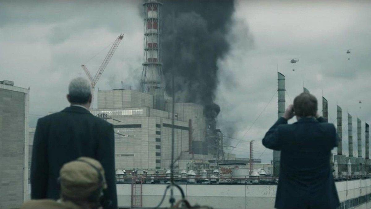 Stellan Skarsgärd y Jared Harris, en una imagen de 'Chernobyl'.
