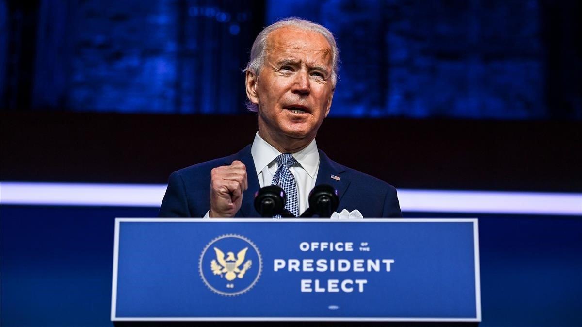Biden, durante la presentación de su futuro Gobierno.
