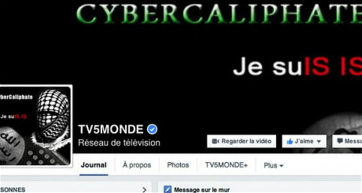 La página de TV5Monde en Facebook pirateada por el EI.