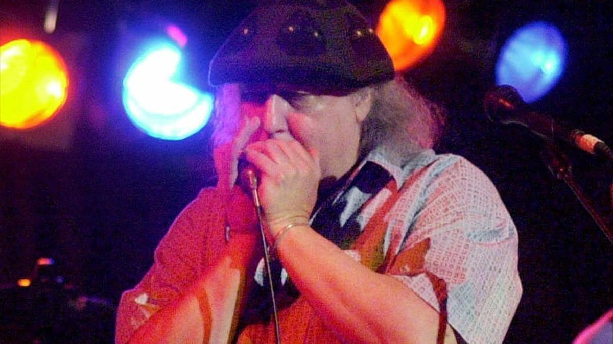 Una imagen del músico británicofallecido este sábado Peter Green.