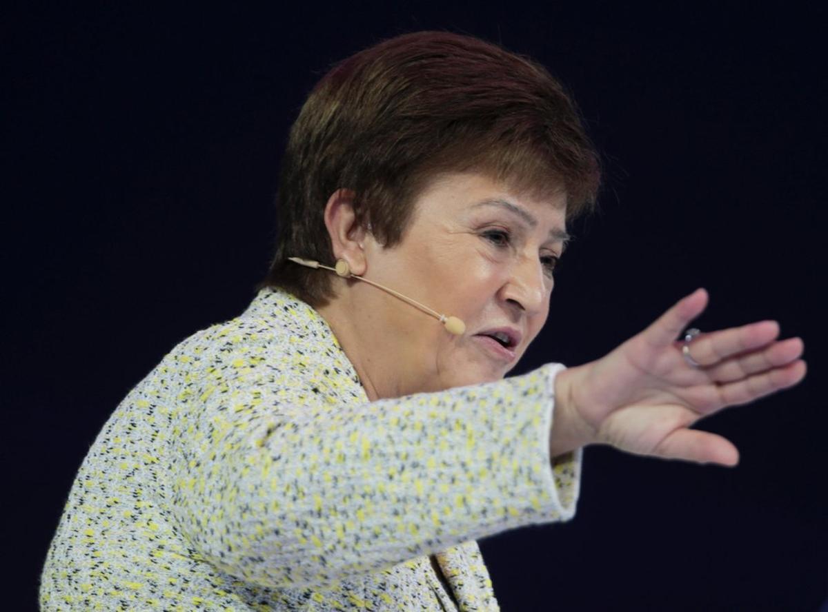 La directora gerente del FMI, Kristalina Georgieva, en Dubái, en el mes de febrero.