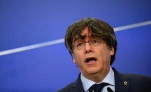 Carles Puigdemont, en el Parlamento Europeo, el pasado 24 de febrero