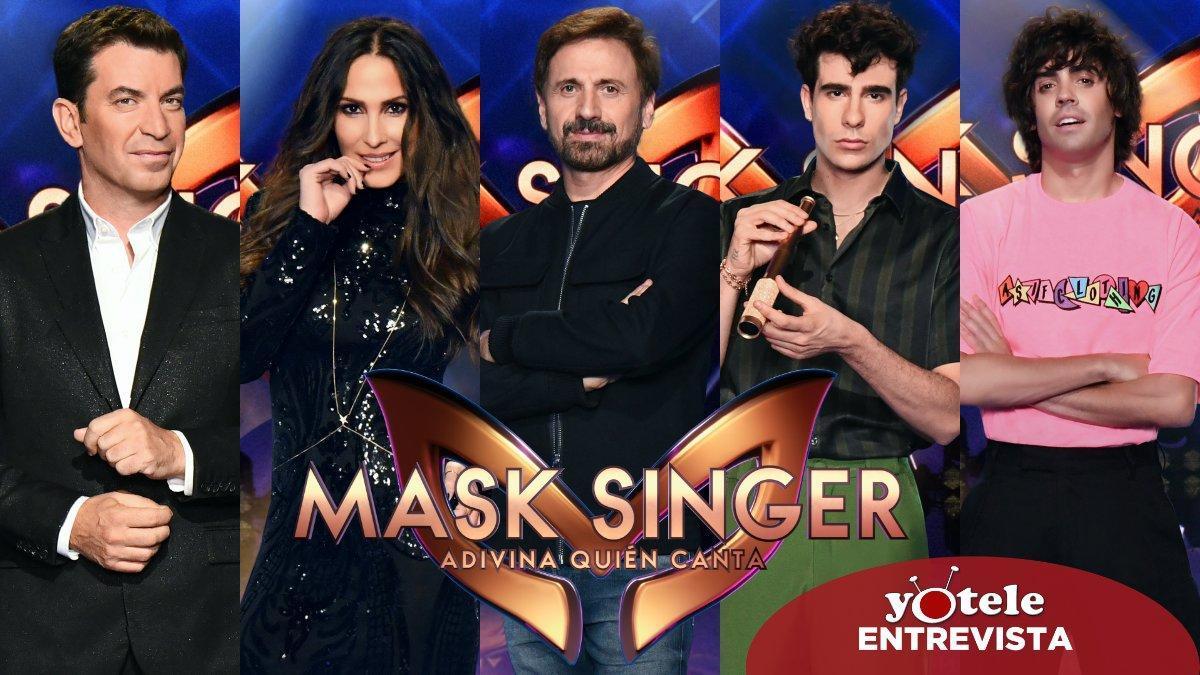 Arturo Valls, Malú, José Mota y los Javis, presentador e investigadores de 'Mask Singer: Adivina quién canta'.