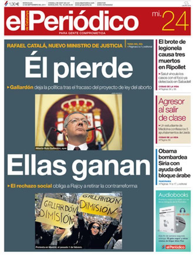 EL PERIÓDICO, 24-09-2014.