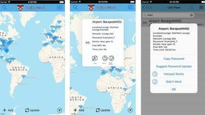 'Wifox' detecta las redes wifi de todos los aeropuertos y también actualiza las contraseñas si se cambian