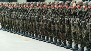 Miembros del ejército suizo.