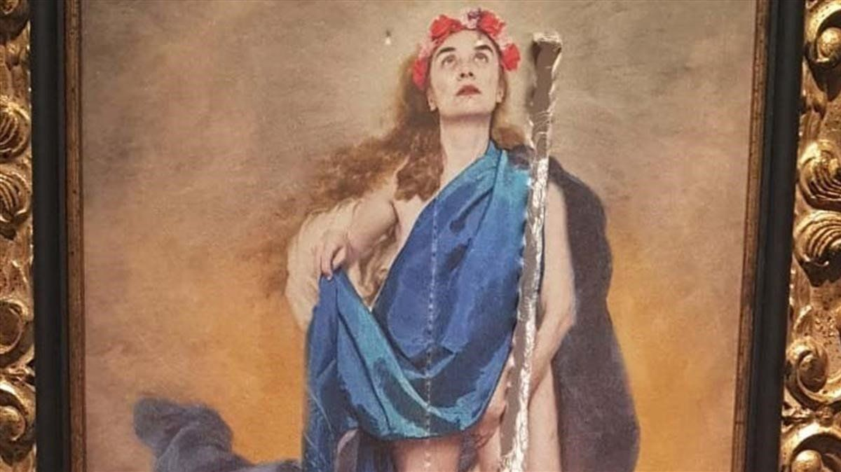 'Con flores a Maria', el cuadro de Charo Corrales que han destrozado en la Diputación de Córdoba.