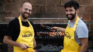 Marc Coloma (izquierda) y Bernan Añaños, confundadores de Heura Foods. El primero ha sido seleccionado por 50 Next, que señala a los 50 jóvenes que marcarán el futuro de la gastronomía.