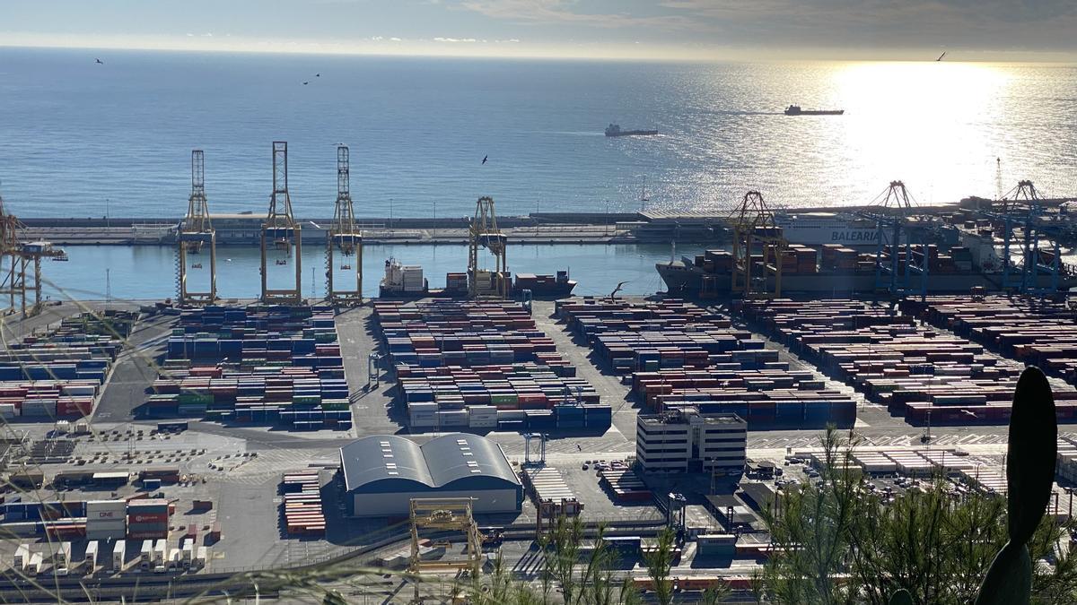 El puerto de Barcelona, en noviembre del 2020.