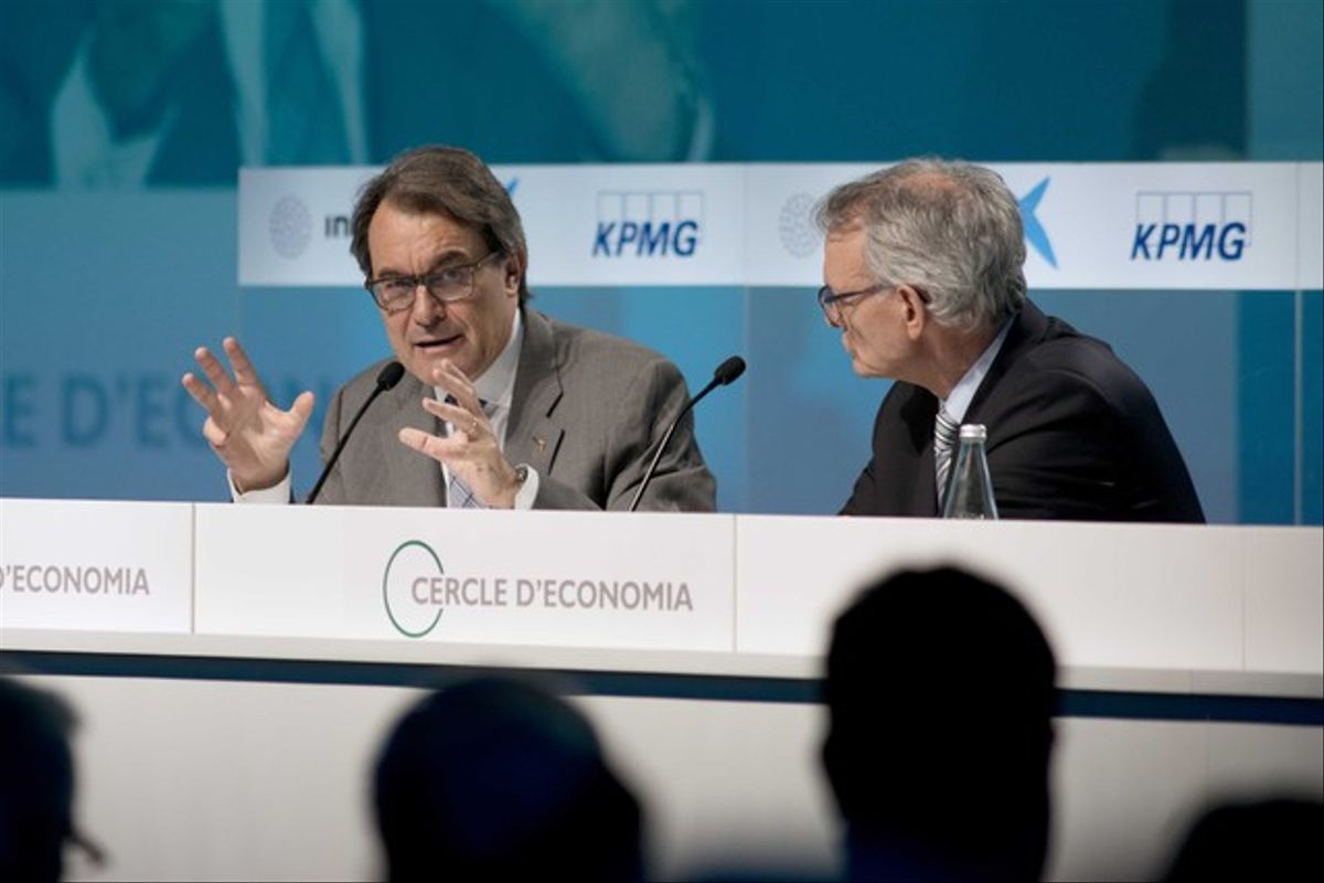 Artur Mas y Anton Costas en la inauguración del Cercle d'Economia el pasado febrero.