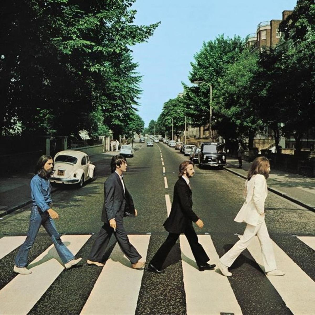 La icónica imagen de los Beatles en Abbey Road.