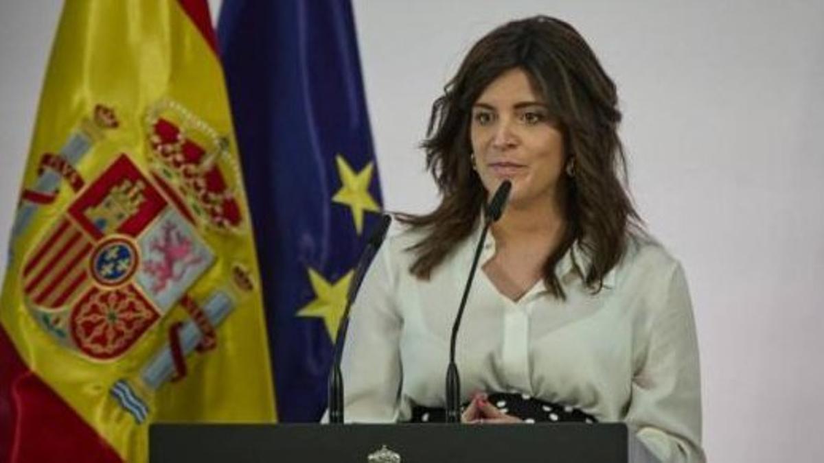 Ana Iris Simón, durante su discurso en contra del plan de Sánchez para los pueblos