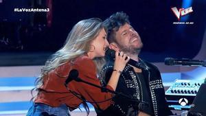 Palomy y Pablo López ('La Voz', A-3 TV).
