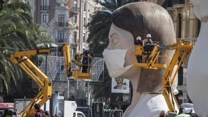 La falla municipal de València es cremarà 'a porta tancada' i abans del dia 19