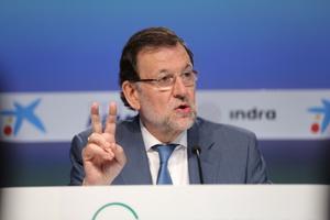 Mariano Rajoy, en la reunión del Cercle d'Economia en Sitges, el pasado mayo.