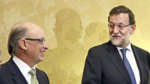 Cristóbal Montoro y Mariano Rajoy.