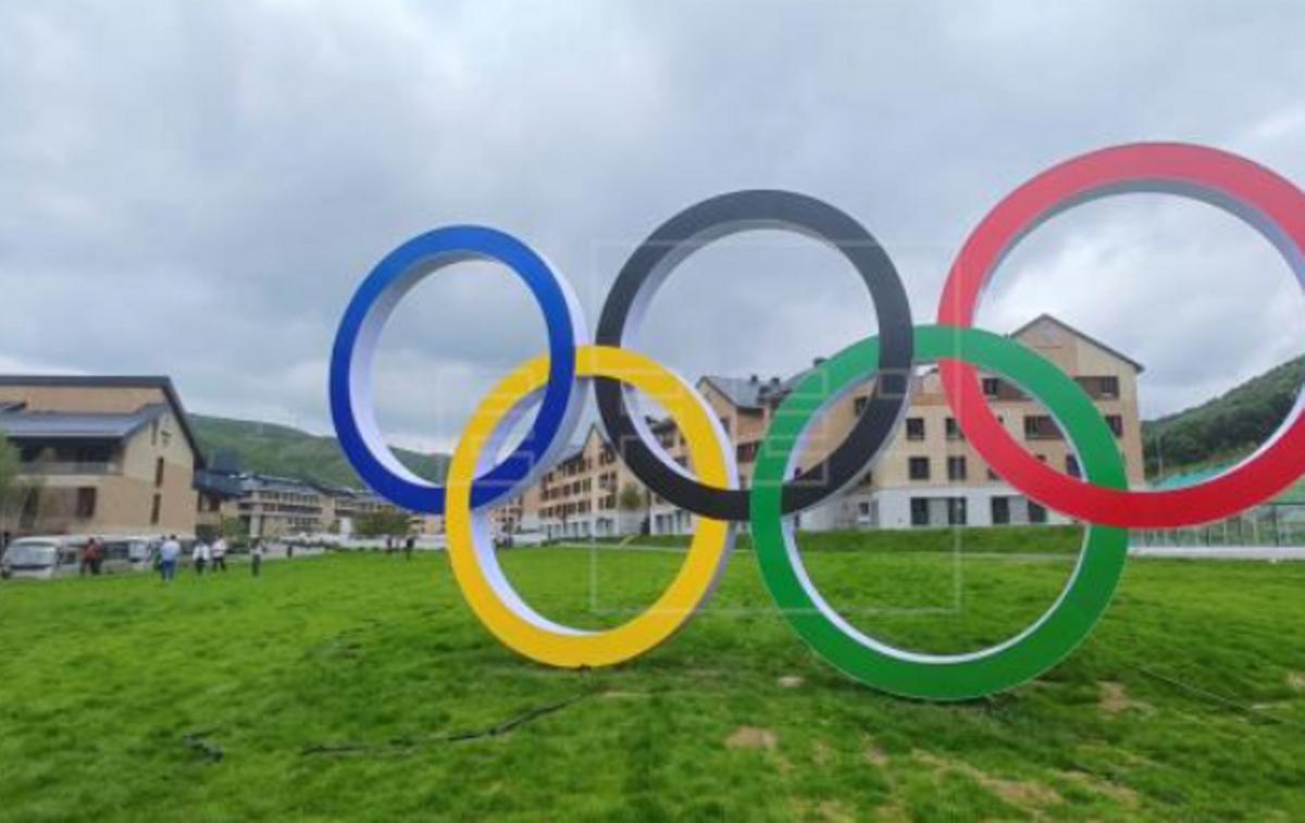 Una imagen de la villa olímpica de Zhangjakou que será sede de pruebas de snowboard, esquí de fondo y nórdico
