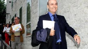 El expresidente de Cantabria Juan Hormaecheaen 2002a su llegada al tribunal Superior de Justicia de Cantabria (TSJC).