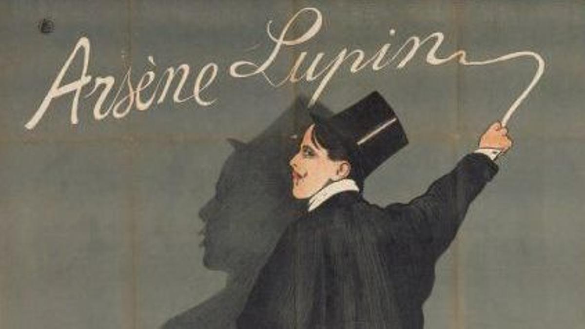 Cartel de una obra de teatro basada en un libro de 'Arsène Lupin'.