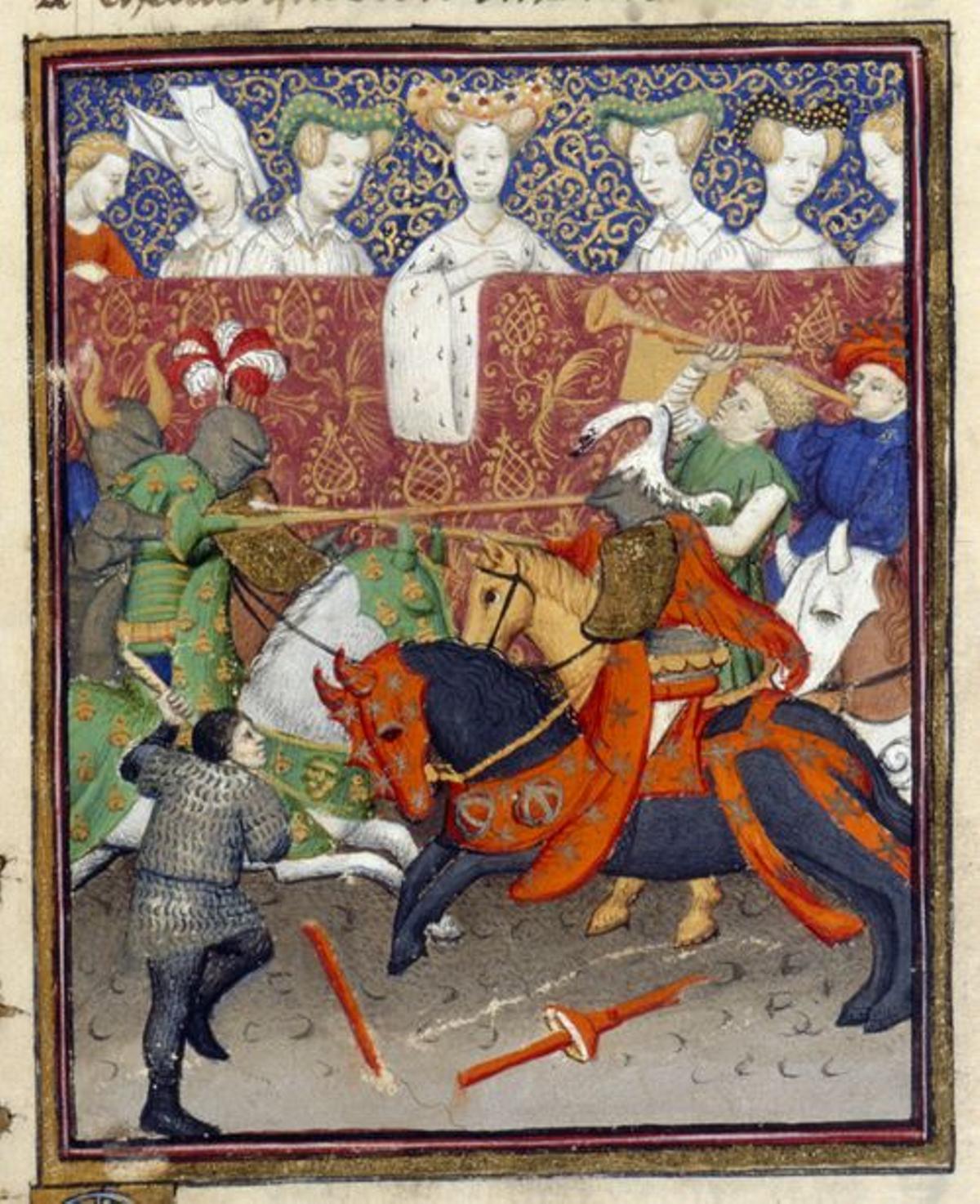 Escena de una justa del 'Libro de la reina' de Christine de Pizan.