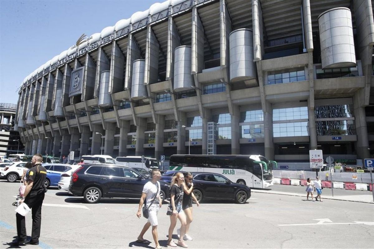 El estadio del Real Madrid, Santiago Bernabéu.