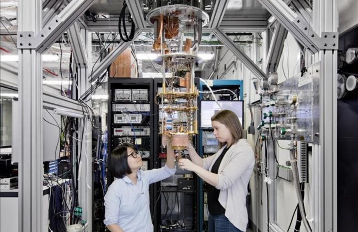 El primer ordenador cuántico de IBM.
