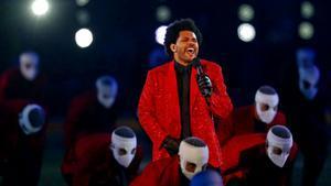 The Weeknd, en el espectáculo de la Super Bowl.