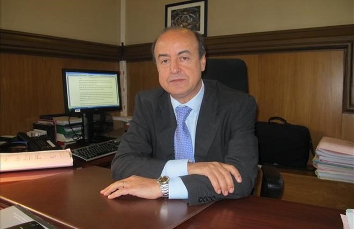 El presidente del Tribunal Superior de Justícia de Catalunya (TSJC), Jesús María Barrientos.