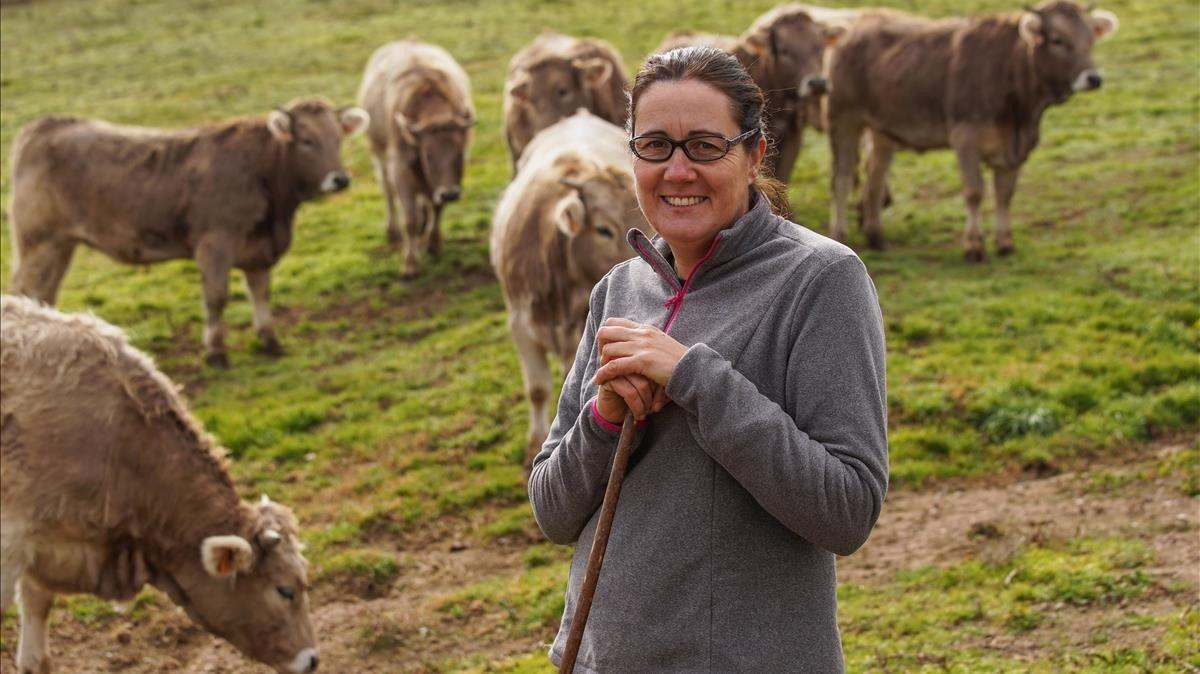 Mònica Pon ramadera y propietaria de La Cooperativa