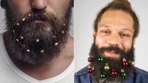 Los adornos navideños para barbas causan furor este año en las tiendas 'online'.