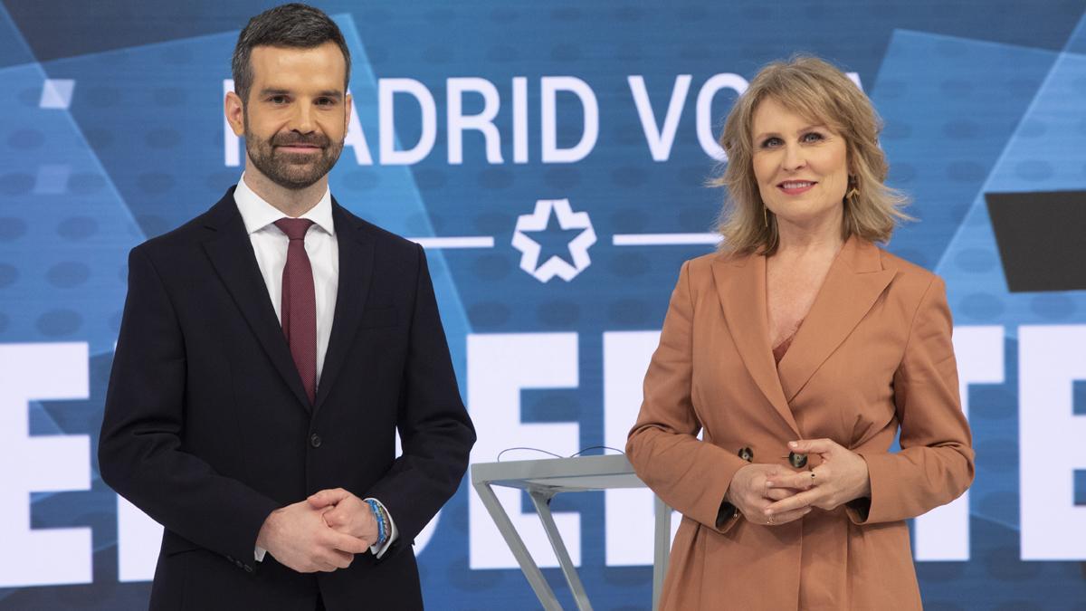 Telemadrid detalla la estructura de su debate del 4-M, moderado por María Rey y Jon Ariztimuño