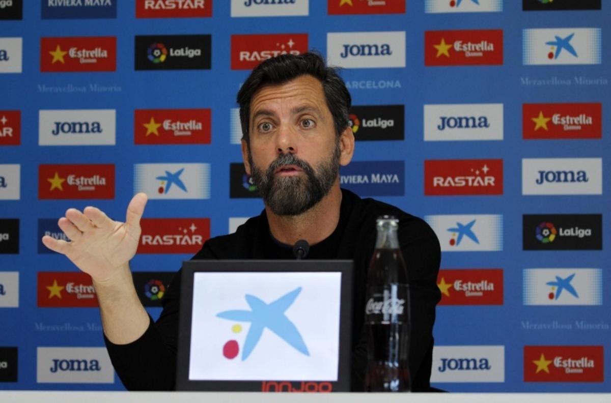 Quique Sánchez Flores, en la rueda de prensa de este martes.