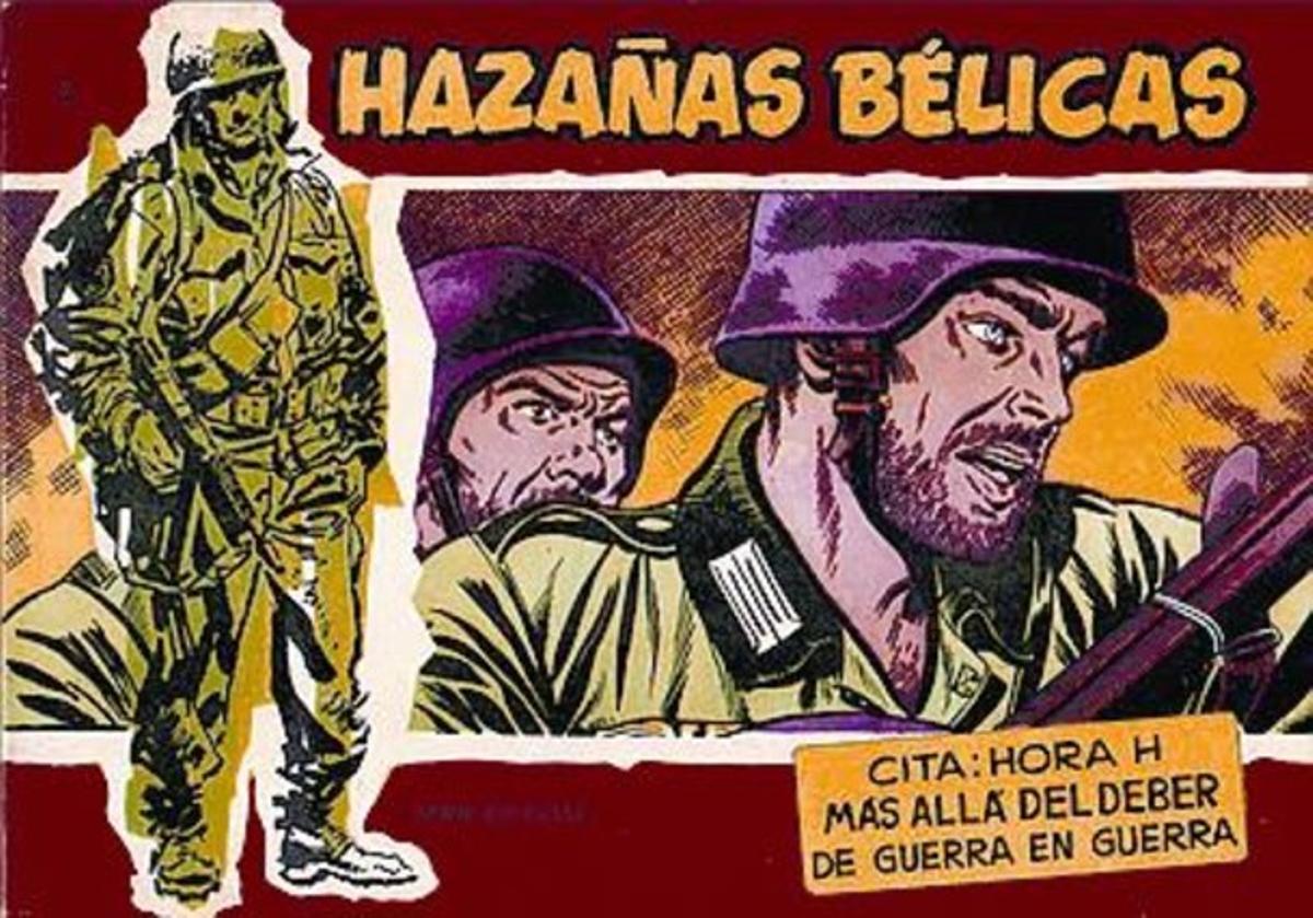 MARCO HISTÓRICO 3Arriba, la llegada de los nacionales a Barcelona, en enero de 1939, abre el cómic sobre la División Azul. Abajo, republicanos en el campo de Argelès-sur-Mer, el mismo año, en el álbum 'rojo'.