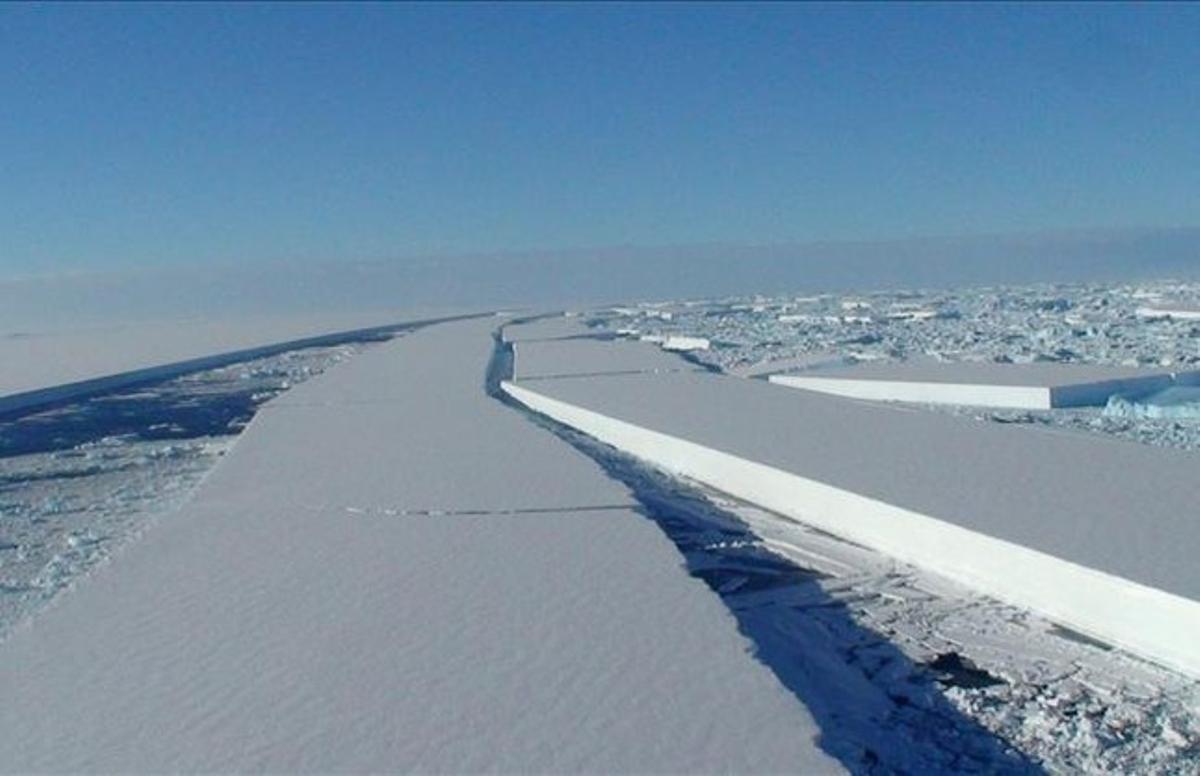 Bloque de hielo en la Antártida.