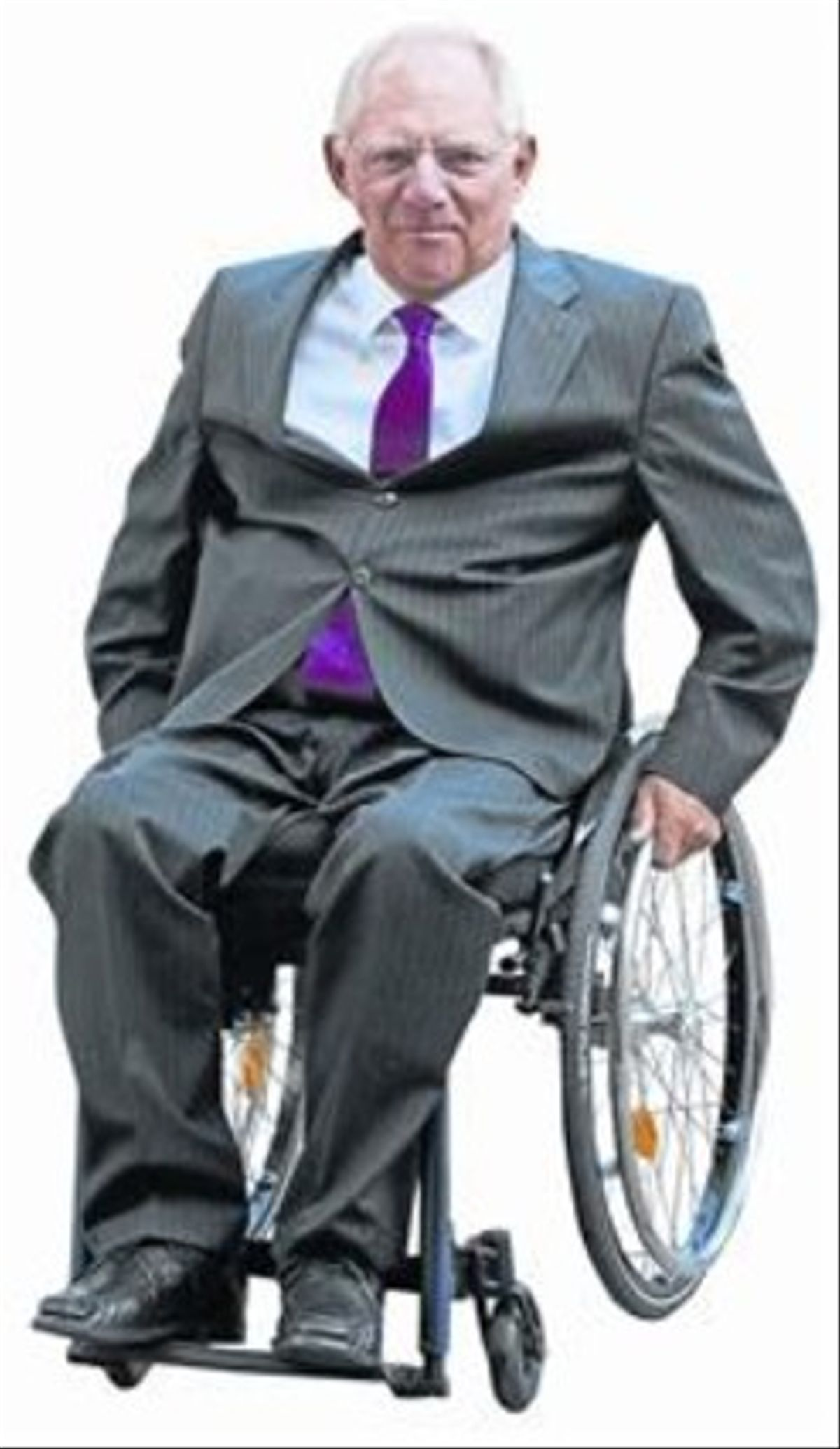 Wolfgang Schäuble quedó en silla de ruedas el 1990 después de ser víctima de un intento de asesinato.