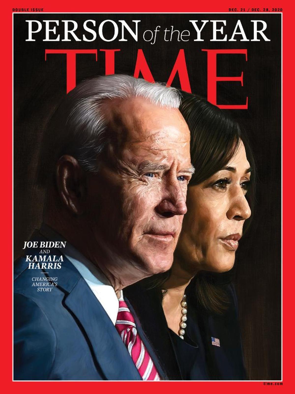 Biden y Harris, personas del año 2020 de la revista Time