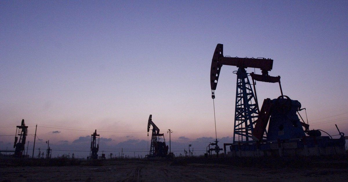Pozos petroleros del yacimiento chino de Shengli.