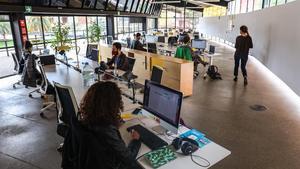 El aula de Proyectos Residentes del Canòdrom, nuevo núcleo digital de  Barcelona.