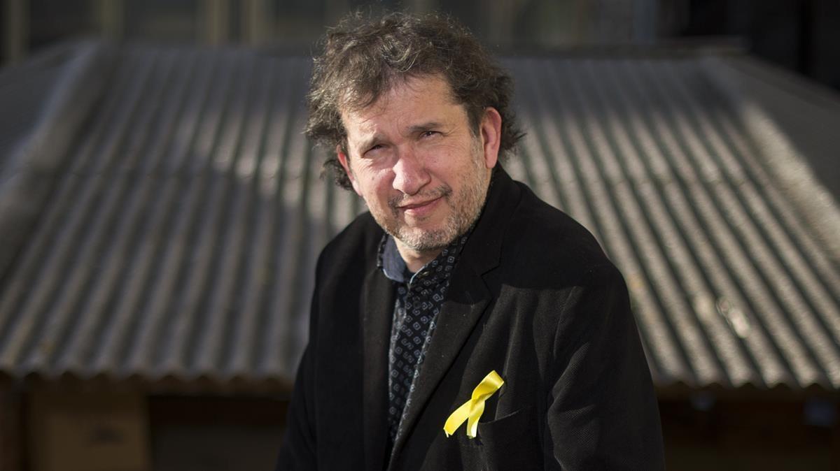 El escritor Joan-Lluís Lluís, que obtuvo el último Premi Sant Jordi de novela.
