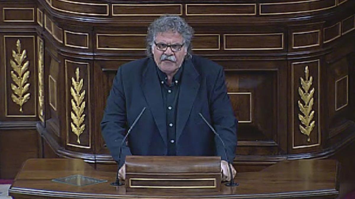 La intervención de Joan Tardà en el Congreso, tras las palabras del ministro Wert.