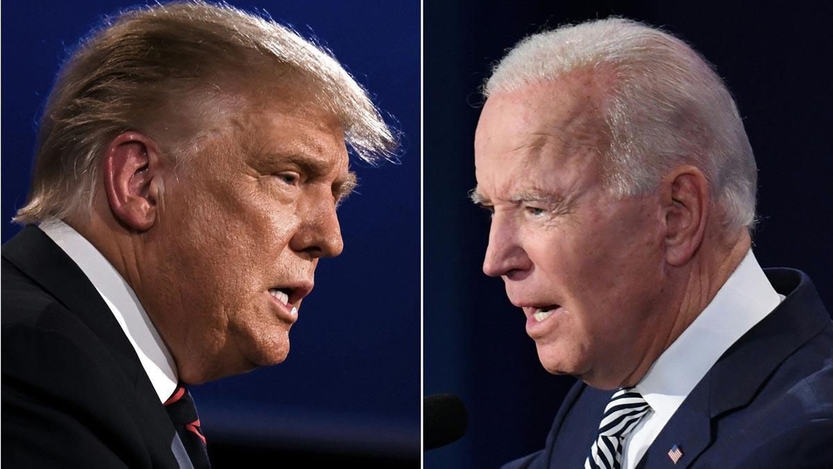 Trump llama socialista a Biden y éste le tacha de mentiroso en el debate.